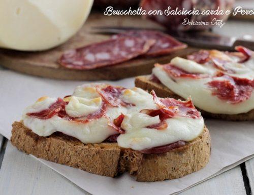 Bruschetta con Salsiccia sarda e Peretta