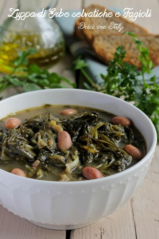 Zuppa di Erbe Selvatiche e Fagioli, la Cucina