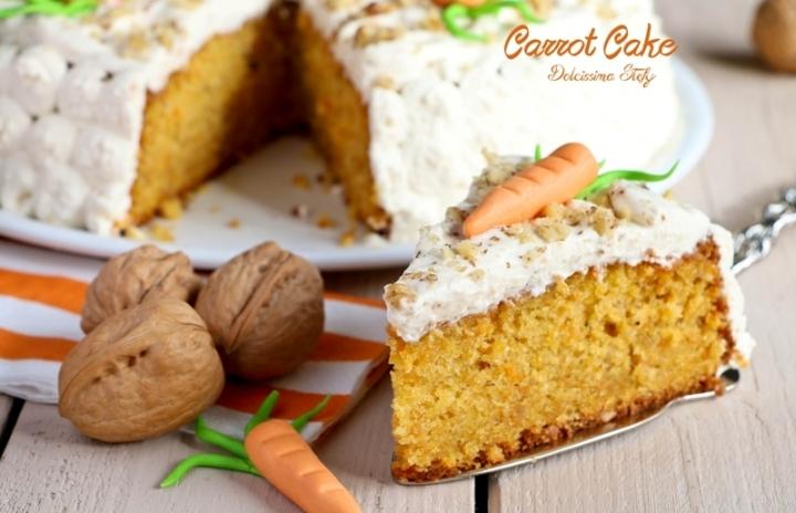 Carrot Cake con frosting allo Sciroppo d'Acero