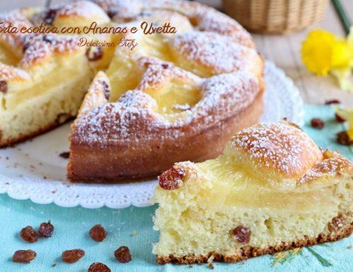 Torta esotica con Ananas e Uvetta