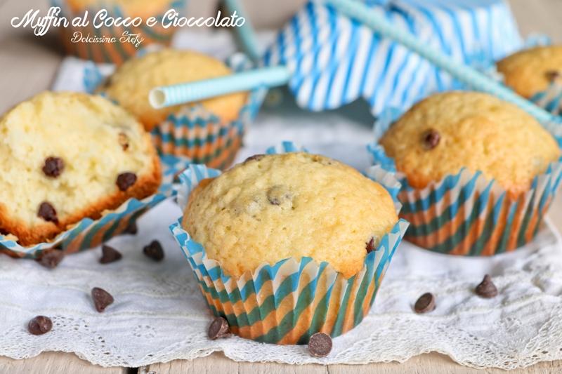 Muffin al Cocco, Yogurt e Cioccolato