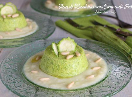 Flan di Zucchine con Crema di Patate e Pinoli