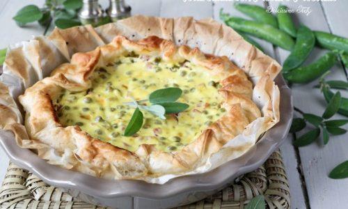 Torta salata con Piselli e Prosciutto