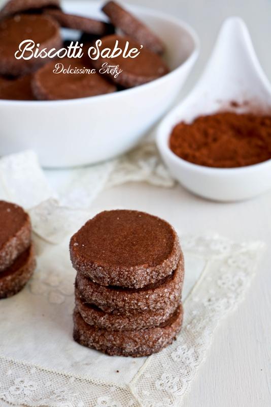 Biscotti Sablè al Cacao