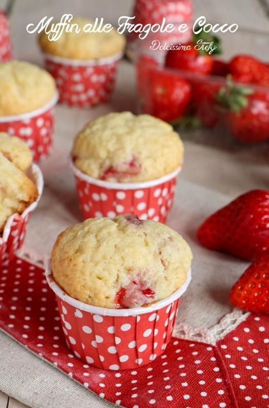 Muffin alle Fragole e Cocco
