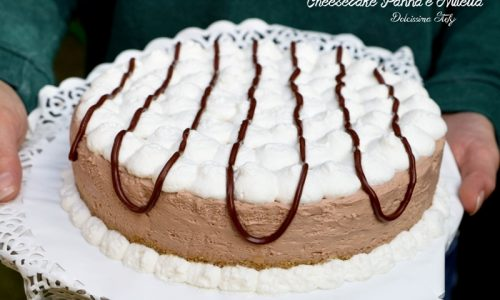 Cheesecake alla Panna e Nutella