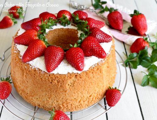 Chiffon Cake alle Fragole e Cocco