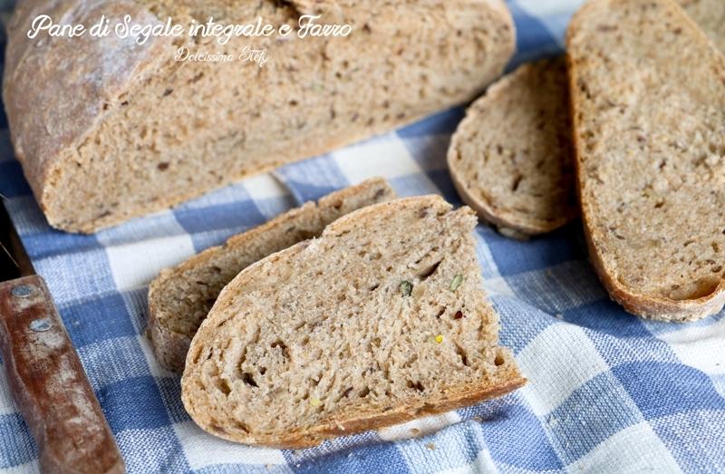 Pane di segale integrale e farro
