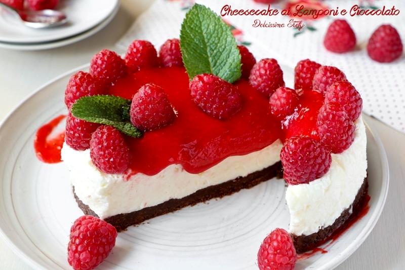 Cheesecake ai Lamponi e Cioccolato