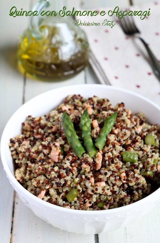 Quinoa con Salmone e Asparagi