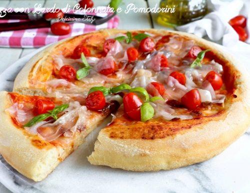 Pizza con Lardo di Colonnata e Pomodorini