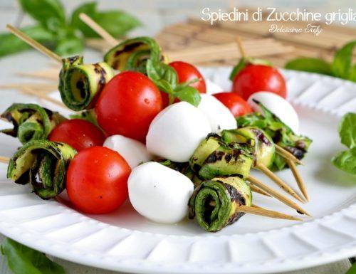 Spiedini di Zucchine con Mozzarella e Pomodorini