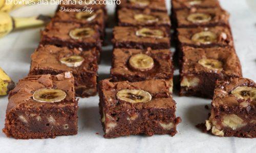 Brownies alla Banana e Cioccolato