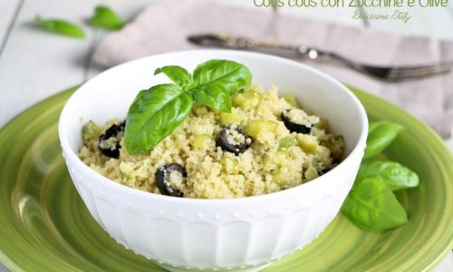 Cous cous con Zucchine e Olive