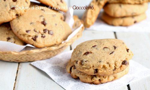 Cookies al Burro d'Arachidi e Cioccolato