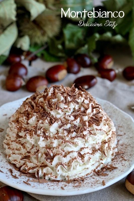 Montebianco, il dolce di Castagne
