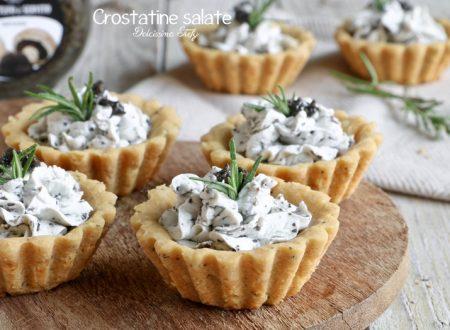 Crostatine salate con Crema al Tartufo e Formaggio
