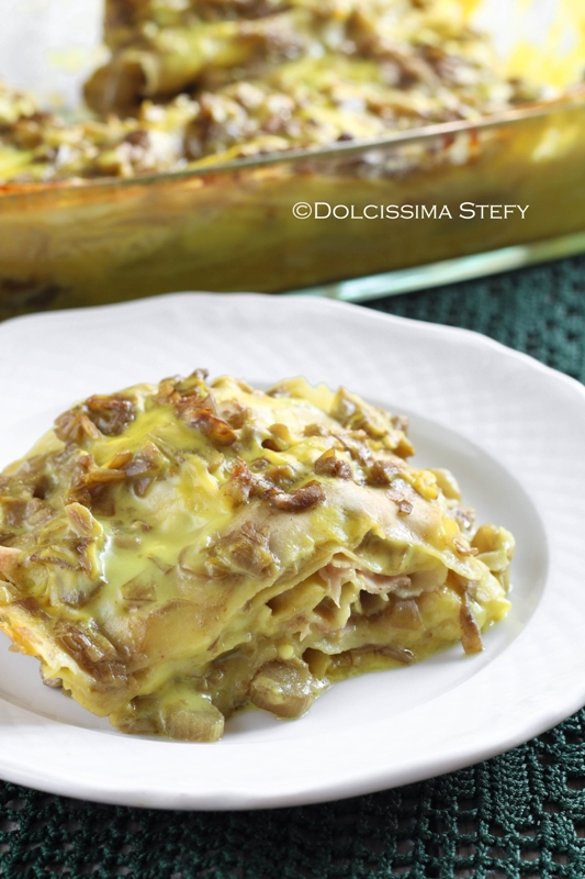 Lasagne ai Carcio e Besciamella alla Curcuma