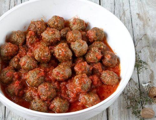 Polpette di Carne e Spinaci al Pomodoro