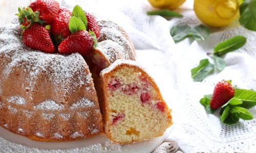 Ciambella Yogurt e Fragole