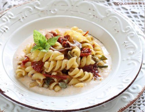 Pasta con Mozzarella, Acciughe e Pomodorini