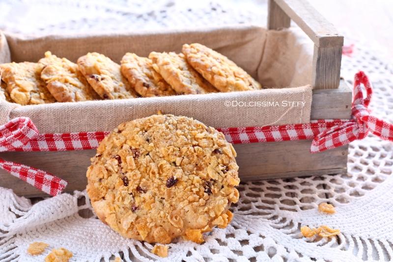 Ricetta Cookies Cioccolato Bianco E Mirtilli.Cookies Al Cioccolato Bianco E Mirtilli Rossi Dolcissima Stefy