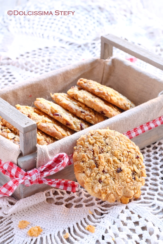 Cookies al Cioccolato bianco e Mirtilli rossi