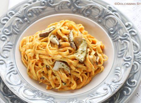 Pasta ai Funghi e Crema di Zucca