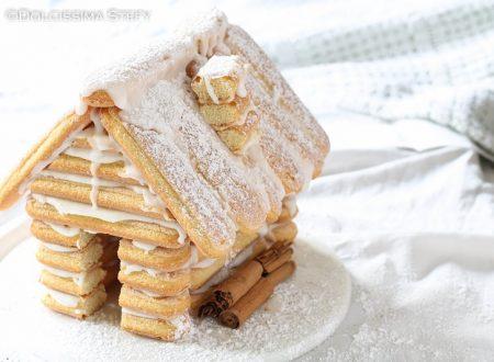 Casetta di Biscotti Savoiardi per Natale