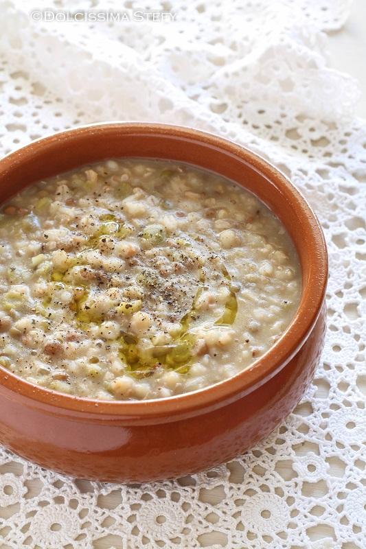 Zuppa di Orzo e Lenticchie - Dolcissima Stefy