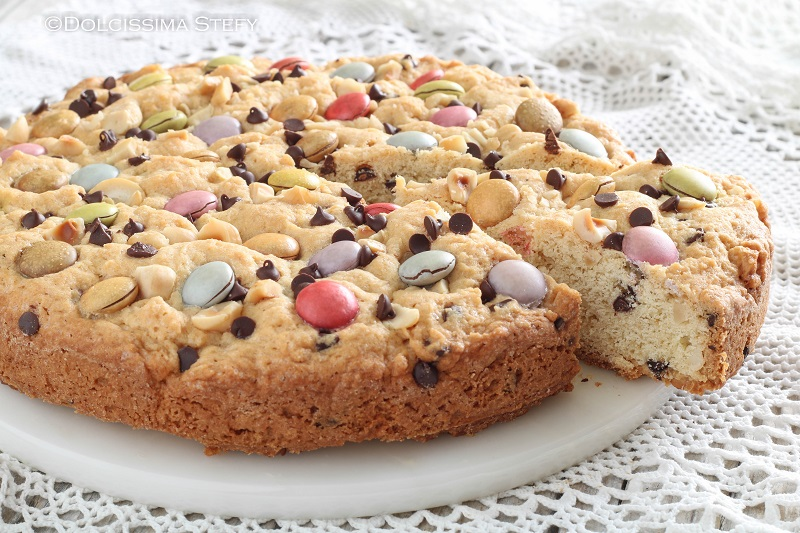 Torta Cookie con Smarties di Dolcissima Stefy