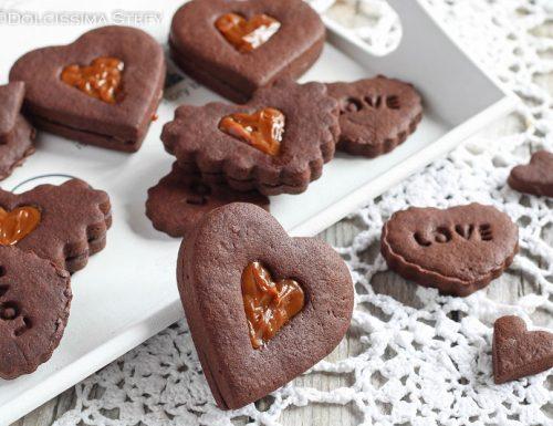 Cuori di Frolla al Cacao ripieni