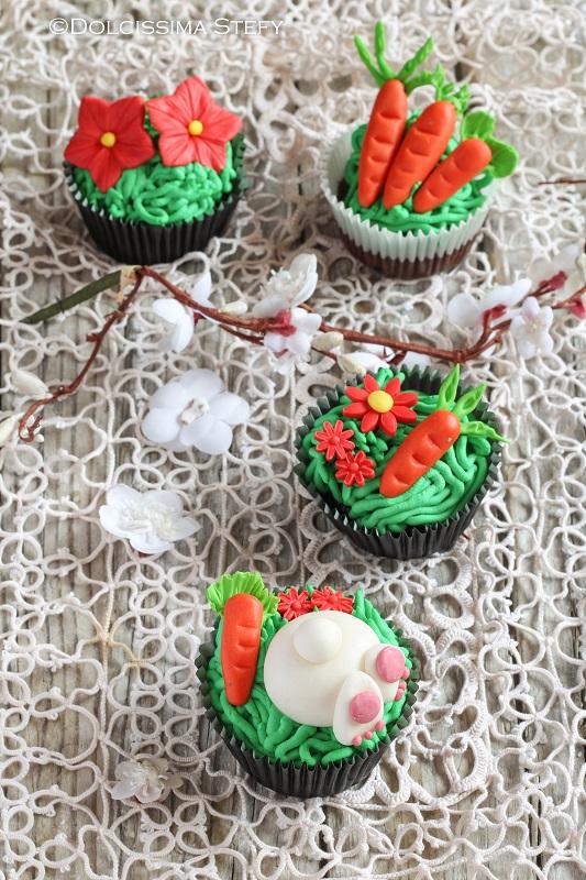 Cupcakes Coniglio e Carote di Dolcissima Stefy