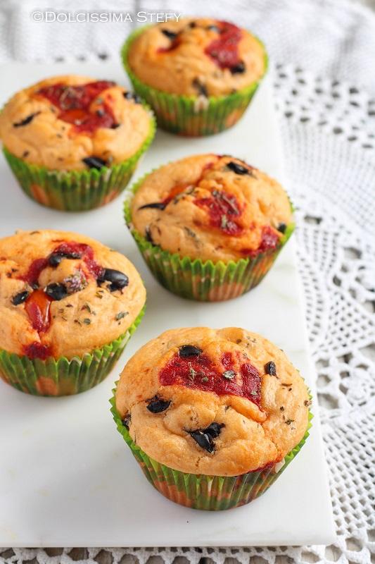 Muffin salati Pomodorini e Olive di Dolcissima Stefy