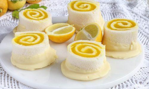Girelle al Limone e Cioccolato bianco senza cottura