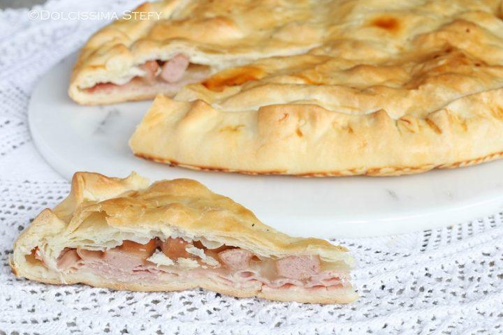 Torta salata con Wurstel, Mozzarella e Prosciutto di Dolcissima Stefy