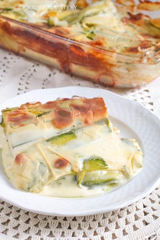 Lasagne Mozzarella e Zucchine