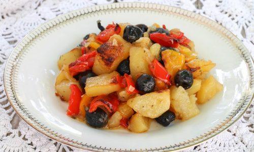 Peperoni e Patate al forno
