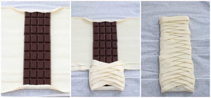 Sfoglia al Cioccolato intrecciata