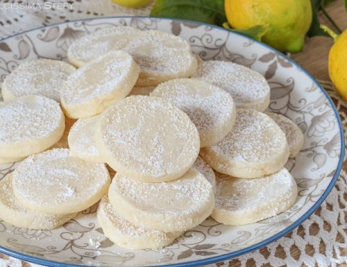 Lemon meltaways, biscotti al limone