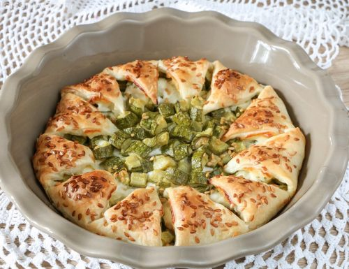 Ciambella di Sfoglia con zucchine e stracchino