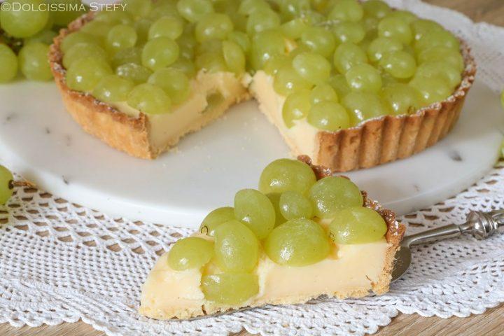 Crostata Uva e Crema pasticcera