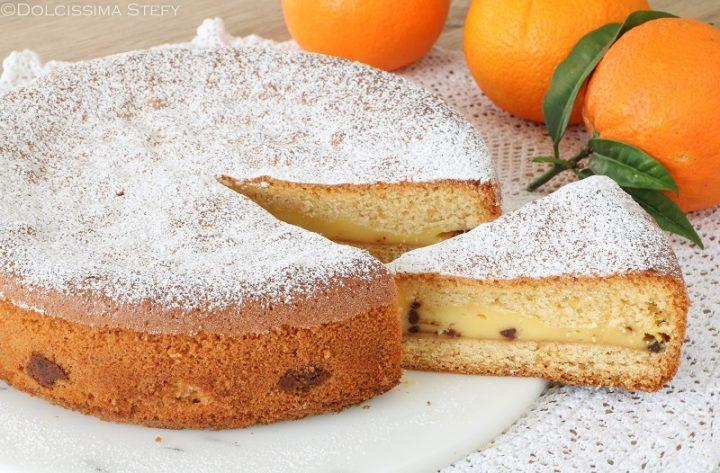 Torta versata Arancia e Cioccolato