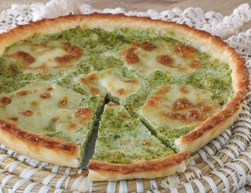 Torta salata Broccoli e Mozzarella