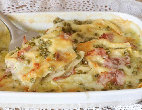 Lasagne ai Piselli e Prosciutto
