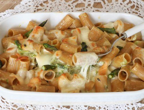 Pasta Asparagi e Scamorza al forno