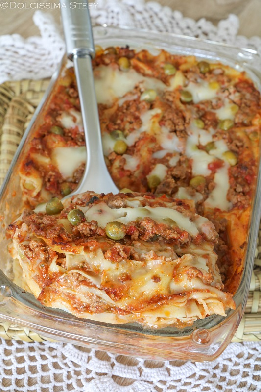 Lasagne Piselli e Ragù