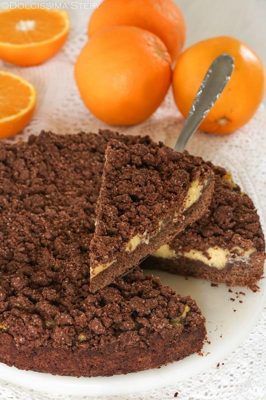 Sbriciolata al Cioccolato e Crema all'arancia