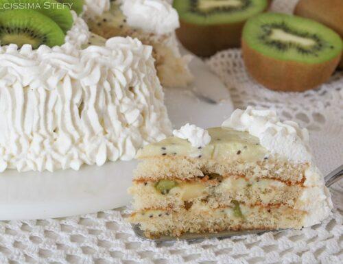 Torta Kiwi e Panna