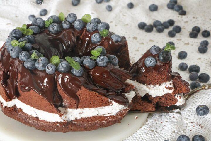 Torta Cioccolato e Mirtilli